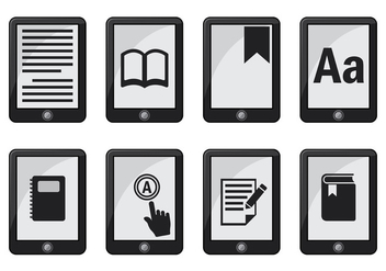 Ereader Icon Vector - бесплатный vector #368631