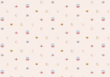 Pastel Geometric Pattern Background - vector gratuit #368651