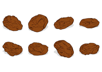 Hand Drawing Raisins Vector - vector gratuit #368751