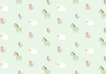 Farm Animals Pattern Background - vector gratuit #368761