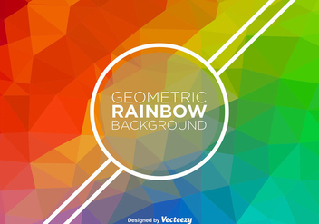 Abstract Rainbow Vector Background - vector gratuit #368791