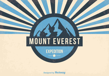 Mount Everest Retro Illustration - vector gratuit #368801