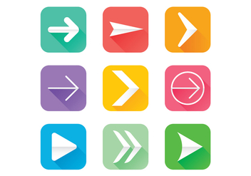Flechas Icons Vector Set - бесплатный vector #368831