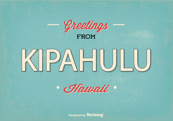 Kipahulu Hawaii Retro Greeting Illustration - Kostenloses vector #368871