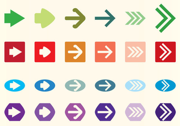 Vector Flechas Arrows Set - vector #368891 gratis