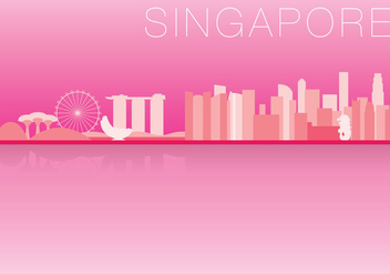 Singapore Skyline - vector gratuit #368941