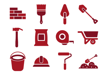Free Bricklayer Icon Vectors - Free vector #369091