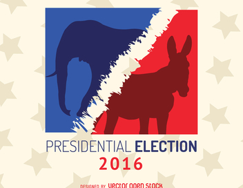 2016 US election sign - vector gratuit #369191