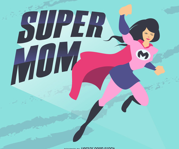 Super mom illustration - Free vector #369201