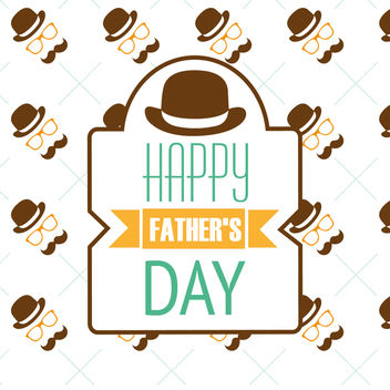 Hipster Father's Day pattern - vector gratuit #369221