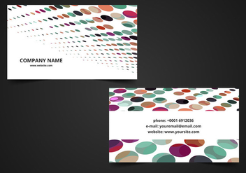 Free Vector Colorful Visiting card - Kostenloses vector #369291