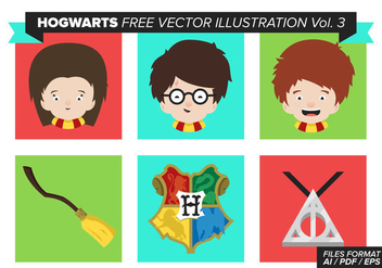 Hogwarts Free Vector Pack Vol. 3 - Kostenloses vector #369331