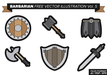 Barbarian Free Vector Pack Vol. 5 - vector gratuit #369351