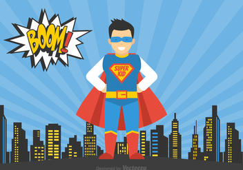 Free Vector Superhero Kid - vector gratuit #369361