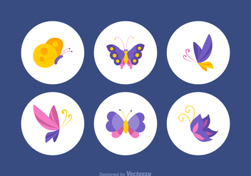 Free Colorful Papillon Vector Set - Free vector #369371