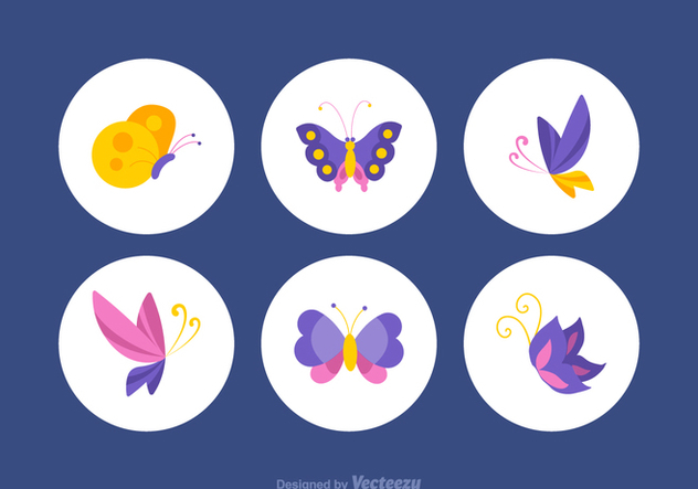 Free Colorful Papillon Vector Set - Kostenloses vector #369371