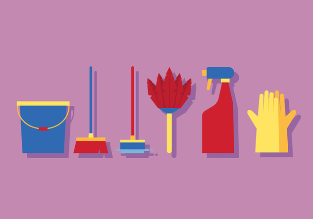 Vector Spring Cleaning Tools - Free vector #369451
