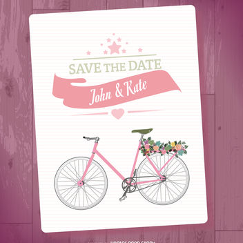 Save the date mockup - vector #369461 gratis