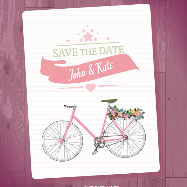 Save the date mockup - vector gratuit #369461