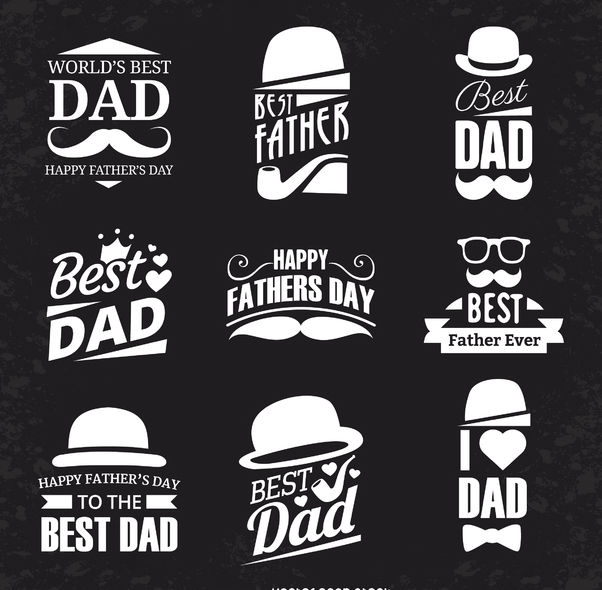 Father's Day label set - Free vector #369471