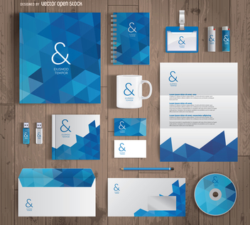 Office stationary mockup - Free vector #369481