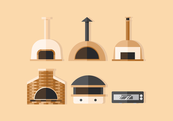 Vector Pizza Oven - Free vector #369531