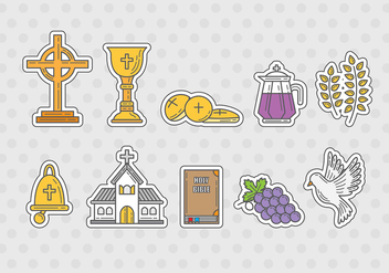 Eucharist Icon Vectors - vector gratuit #369651