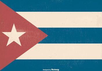 Retro Old Cuba Flag - vector gratuit #369711