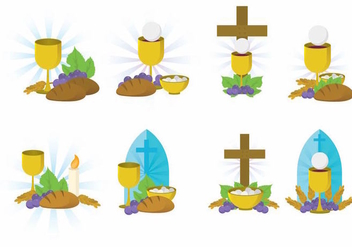 Eucharist Vector Set - Free vector #369721