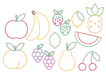 Vector Fruits Set - vector gratuit #369751