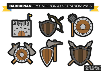 Barbarian Free Vector Pack Vol. 6 - vector gratuit #369761