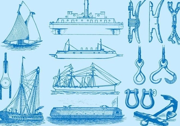 Ships And Navigation Items - vector #369791 gratis