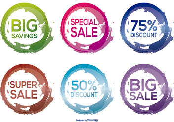 Trendy Discount Labels - vector gratuit #369921