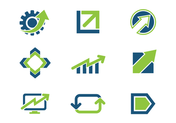 Free Blue Green Growth Business Logo Icons - vector gratuit #370111