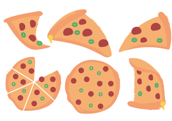 Vector Pizza - vector gratuit #370121