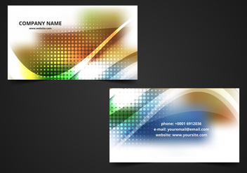 Free Vector Colorful Visiting Card Background - Kostenloses vector #370191