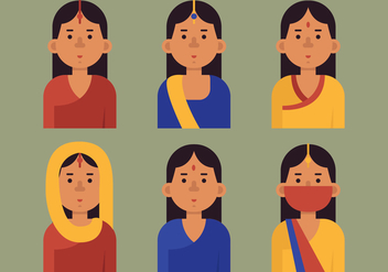 Vector Indian Woman - vector gratuit #370201