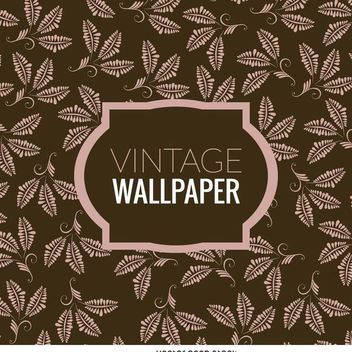 Floral leaves vintage wallpaper - vector gratuit #370241