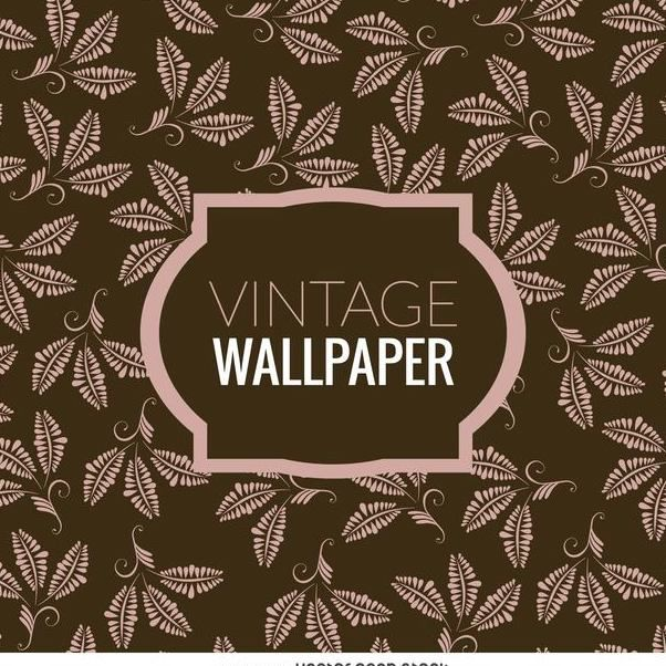 Floral leaves vintage wallpaper - бесплатный vector #370241