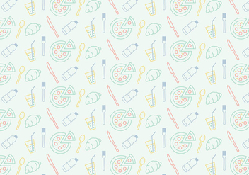 Food Icon Pattern - Free vector #370291