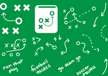 Playbook Graphics Handdrawn Plays - бесплатный vector #370301