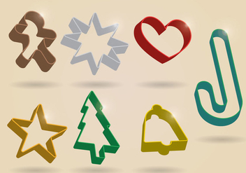 Cookie Cutter Vector - vector #370331 gratis