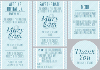 Blue Wedding Templates - vector gratuit #370341
