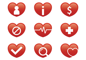 Medical Heart Icon - vector gratuit #370351