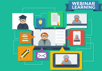 Webinar Learning Infographic Vector - бесплатный vector #370401