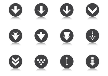Degrade Arrow Button Vector Pack - vector #370411 gratis