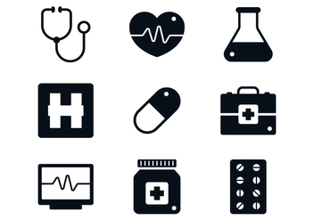 Medical Icon Set - vector gratuit #370441