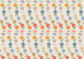 Flowers Pastel Pattern - Free vector #370511