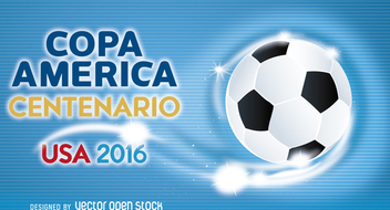 Copa America soccer ball banner - Free vector #370691
