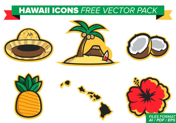 Hawaii Flowers Free Vector Pack - бесплатный vector #370761